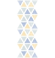 Abstract textile ikat triangles vertical seamless vector image