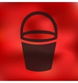 bucket icon on blurred background vector image