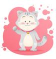 Cute cartoon cat toy card vector image