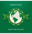 Earth Day circle Banner and festive Ribbon vector image