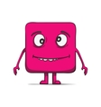Funny stupid cube dude Square character vector image