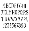 Handwritten simple font hand drawn sketch alphabet vector image