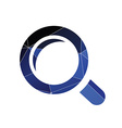 magnifier icon Abstract Triangle vector image