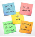 set of paper stickers with funny slogans vector image