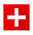 the flag of switzerland vector image