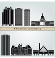 Edmonton landmarks and monuments vector image
