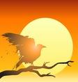 grunge raven sun vector image
