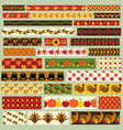thanksgiving washi tape clipart vector image