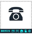 Phone icon flat vector image