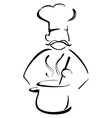 Cooking pot vector image vector image