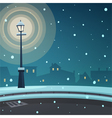 City in the snow vector image