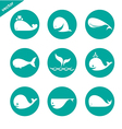 group of whale in the circle vector image vector image