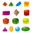 3d geometric shapes vector image