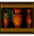 ancient amphora and jugs vector image vector image