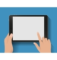 Hand touching screen vector image