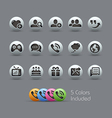 Social Communications Icons Pearly Series vector image vector image