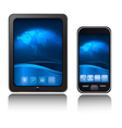 tablet computer and mobile phone vector image