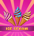 Set colorful ice cream Vector Image
