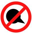ban speak icon vector image