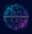 cryptocurrency round colorful vector image