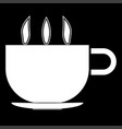 cup with hot tea or coffee the white color icon vector image
