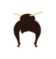 Japan hair style vector image