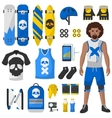 Skateboard equipment set vector image