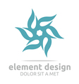 ultramarine element design icon vector image