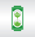 Hourglass Recycle Concept vector image