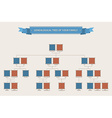 Genealogical tree of your family with bezels vector image