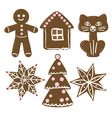 collection of christmas cookies vector image vector image