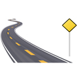 Highway With Sign vector image vector image