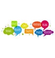 set of social media network vector image