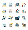 Blogger Icons Set vector image