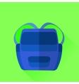 Blue Backpack vector image