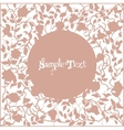 Card with pink frame from branches and roses vector image
