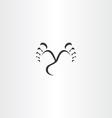 footprint step black icon vector image