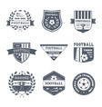game of football - vintage set of logos vector image