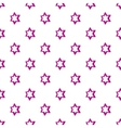 Geometric figure star pattern cartoon style vector image