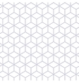 Gray white minimal cubes seamless pattern vector image