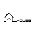 house with key black vector image