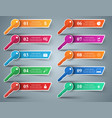 infographic key icon vector image