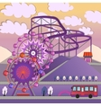 01 City Amusement park vector image