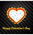 ornamental heart on background of male and female vector image