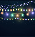 set of colorful glowing light garlands vector image vector image
