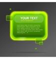 Abstract green speech bubble vector image vector image