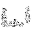Vignette with birds vector image