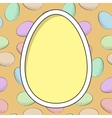 card with egg frame vector image vector image