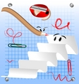 funny paper and pencil crazy vector image vector image
