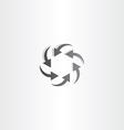 black arrow circle hexagon vector image